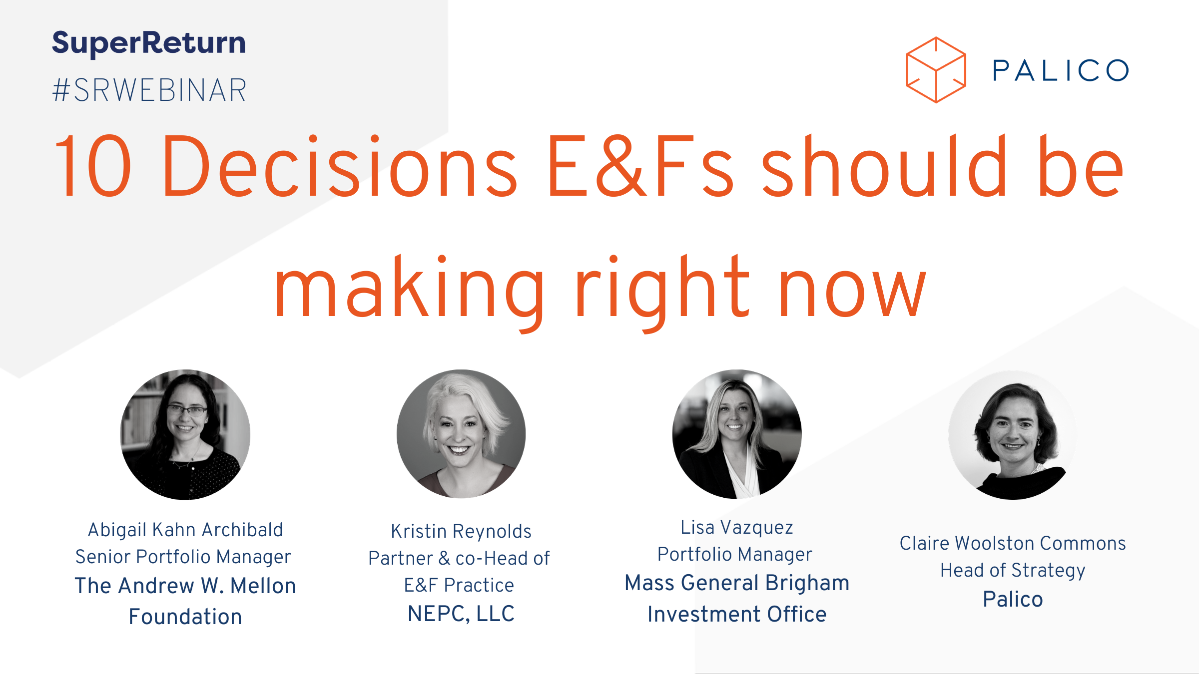 10 decisions E&Fs should be making right now